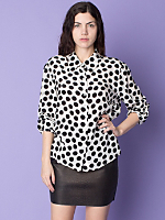 Vintage Polka Dot Silk Blouse