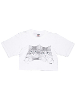 Vintage Cats Cropped T-shirt