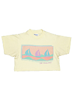 Vintage Kids' San Francisco Sailboats Cropped T-shirt