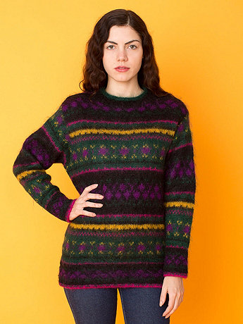 Vintage United Colors of Benetton Fair Isle Wool Sweater