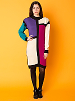 Vintage Colorblock Knit Dress