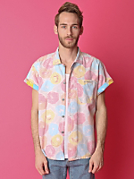 Vintage Inside-Out Short-Sleeve Button-Up Shirt