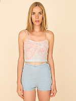 California Select Originals Floral Angora/Wool Tank