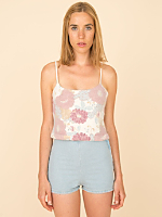 California Select Original Floral Angora Tank
