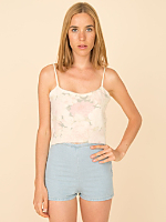 California Select Originals Roses Angora/Wool Tank