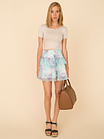 California Select Original Pastel Floral Mini Skirt