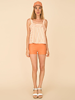California Select Originals Striped Silk Tank