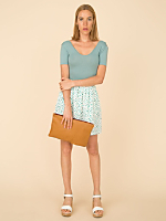 Vintage Square Print Mini Skirt