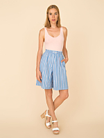 Vintage Striped Chambray Culottes