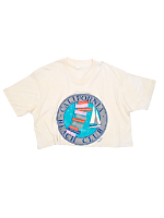 Vintage California Beach Club Cropped T-shirt