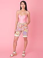 Vintage ESPRIT Floral Denim Shorts
