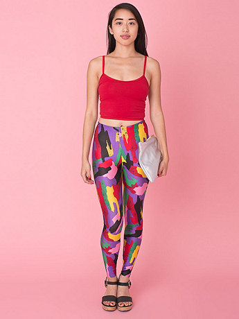 Vintage Bright Abstract Print Legging