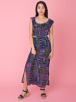 Vintage Ethnic Print Cotton Voile Dress
