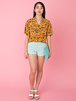 California Select Originals Silk Crop Top