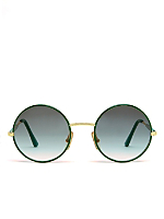 Vintage Burberry Round Green/Grey Sunglasses