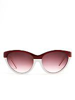Vintage Maroon/White Cat Eye Sunglasses