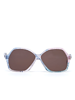 Vintage Jacques Esterel Marbled Multi Butterfly Sunglasses