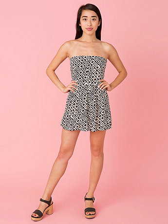 California Select Originals Graphic Print Tie-Up Mini Dress
