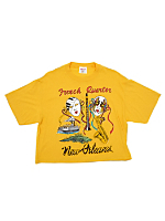 Vintage New Orleans French Quarter Cropped T-shirt