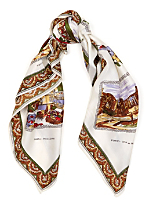 Vintage Italian Vacation Silk Scarf