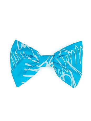 California Select Originals Scribble Print Silk Bow Hair Clip