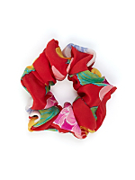 California Select Originals Abstract Floral Silk Scrunchie