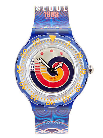 Vintage Swatch Scuba Seoul 1988 Watch