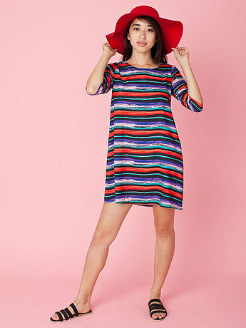 California Select Originals Organic Stripe Tent Dress