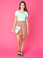 California Select Originals Pleated Mini Skirt