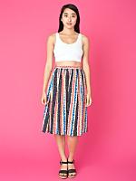 Vintage Handmade Printed Silk Skirt