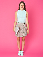 Vintage Dusty Rose Mini Skirt
