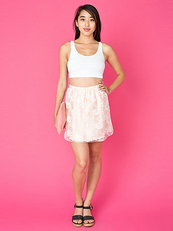 California Select Originals Floral Lace Mini Skirt