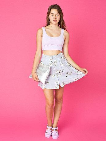 Vintage Daisy Buttoned Mini Skirt