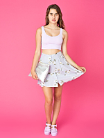 Vintage Daisy Buttoned Mini Skirt