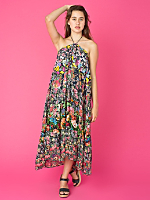 Vintage Patchwork Floral Maxi Dress