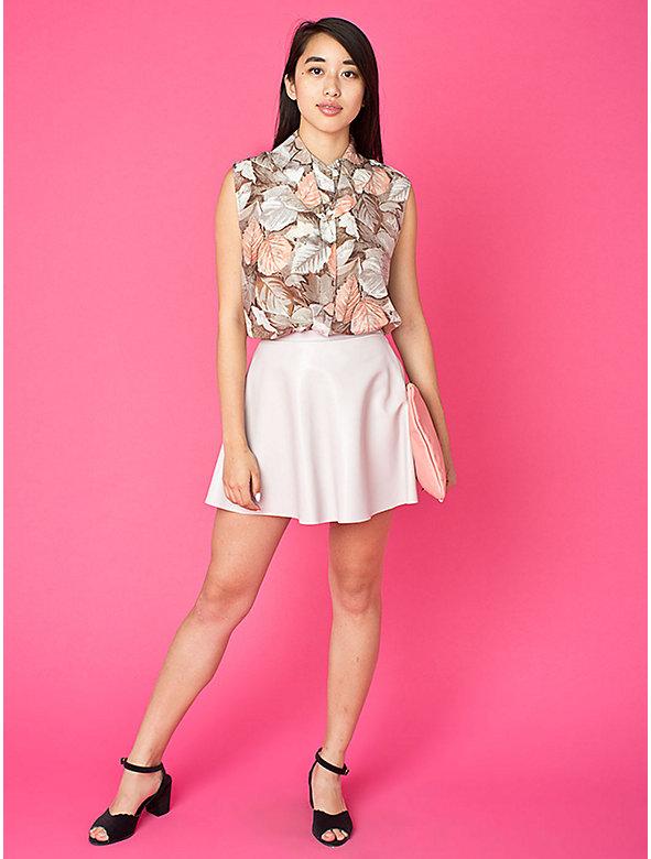 California Select Originals Sleeveless Silk Button-Up