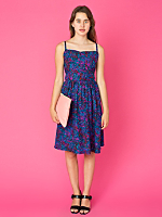 California Select Originals Silk Lattice Back Dress