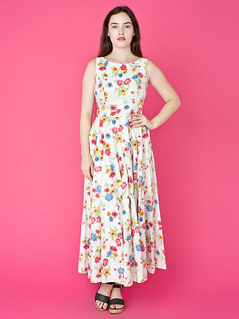 Vintage Laura Ashley Floral Sleeveless Dress