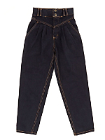 Vintage Kids' Overdyed High-Waisted Black Jean