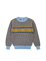 Vintage Kids' Fair Isle Knit Sweater