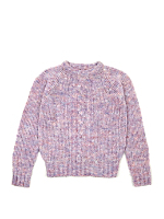 Vintage Kids' Marled Cable Knit Sweater