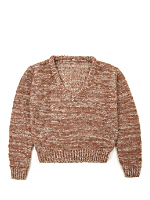 Vintage Kids' Marled Copper V-Neck Knit Sweater