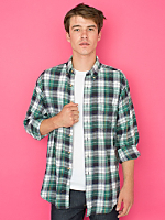 Vintage Tall Plaid Flannel Button-Up