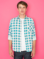 Vintage Plaid Flannel Button-Up