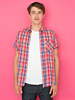 Vintage Madras Short-Sleeve Button-Up