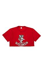 Vintage University of Wisconsin Badgers Cropped T-shirt