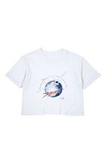Vintage Rutan Voyager Cropped T-shirt