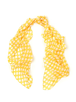 Vintage Polka Dot Sheer Chiffon Long Scarf