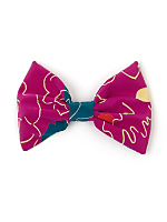 California Select Originals Abstract Floral Silk Bow Hair Clip