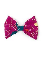 California Select Originals Abstract Floral Silk Bow Hair Clip